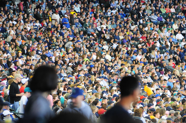 A packed crowd turned out to watch the Mariner's 3-2 win over the Arizona Diamondbacks to sweep the series Sunday June 21, 2009. Photo by Daniel Berman/SeattlePI.com
