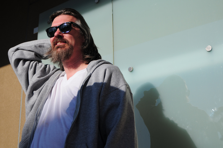Fan Dale Phillips of Tacoma waits in line before the start of Lebowski Fest at Acme Bowl in Tukwila Tuesday July 21, 2009. Photo by Daniel Berman/SeattlePI.com
