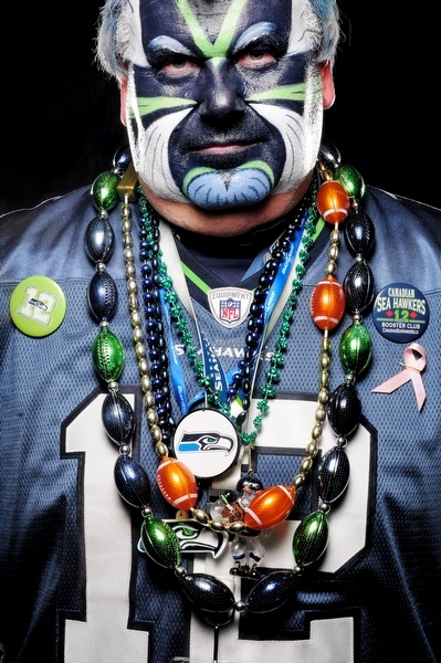 Portraits of Seattle Seahawks fans before their winning game against the Detroit Lions Sunday November 8, 2009 at Qwest Field in Seattle, WA. Photo by Daniel Berman/www.bermanphotos.com