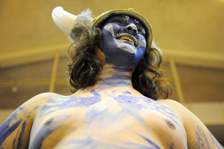 Western superfan Kevin Ernest cheers on the team. Photo by Seattle Bellingham photographer Daniel Berman/www.bermanphotos.com