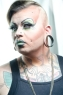 "Ursula Major, from Seattle, poses for a portrait at the Seattle Tattoo Expo Saturday August 11, 2012 at Seattle Center. ""This is my normal drag look,"" he said. Photo by Daniel Berman/www.bermanphotos.com"