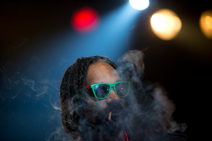 "Snoop Lion performs at The Fillmore Auditorium Friday April 19 in Denver to kick off 4/20 weekend celebrations at the High Times Medical Cannabis Cup. High Times gave Snoop Lion a lifetime achievement award during the raucous, smoke-filled evening. ""Your state legislators deserve a street named after them for legalizing marijuana,"" Snoop told the crowd."