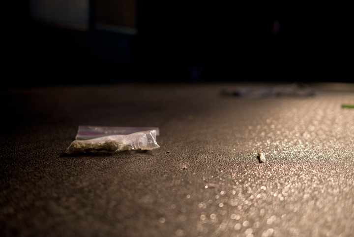 Bags of Cannabis, joints and blunts are seen after being thrown on stage as Snoop Lion performs at The Fillmore Auditorium Friday April 19 in Denver to kick off 4/20 weekend celebrations at the High Times Medical Cannabis Cup. High Times gave Snoop Lion a lifetime achievement award during the raucous, smoke-filled evening.